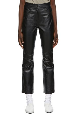 Stand Studio Leather Avery Cropped Trousers