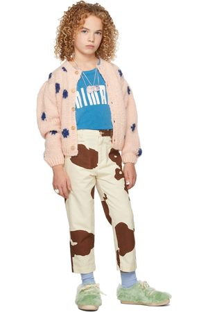 The Animal Observatory Kids Dots Racoon Cardigan