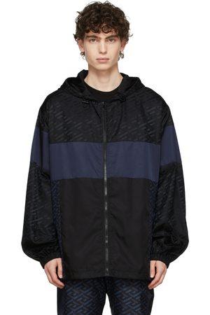 VERSACE Black & Blue Track Suit Jacket