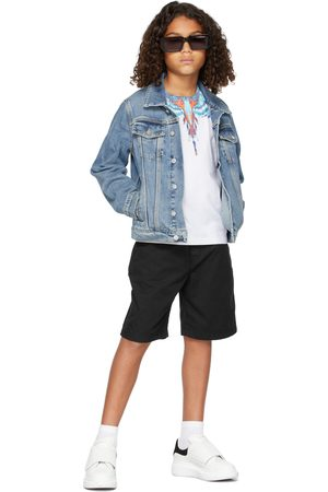 MARCELO BURLON Short Sleeve - Kids Blue Bird Wings T-Shirt