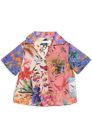 ZIMMERMANN Little Girl's & Girl's Tropicana Short-Sleeve Shirt