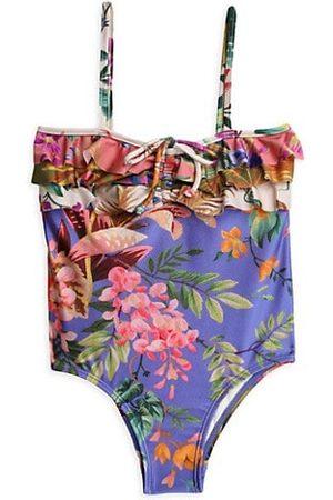 ZIMMERMANN Little Girl's & Girl's Spliced Frill One-Piece Swimsuit