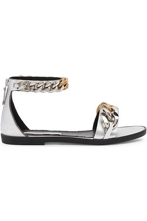 Stella McCartney Falabella Faux Leather Chain Sandals