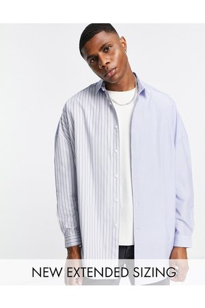 ASOS 90s oversized shirt with patchwork spliced stripe