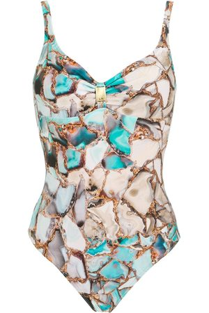 Lygia & Nanny Roberta gemstone-print swimsuit