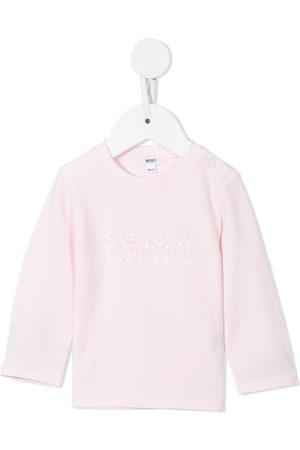 HUGO BOSS Floral-print logo T-shirt