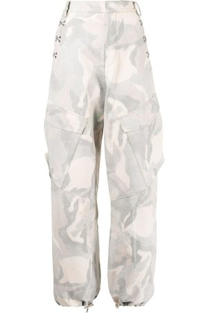 DION LEE Ikat camouflage-print cargo trousers