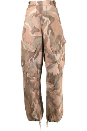 DION LEE Ikat camouflage-print trousers