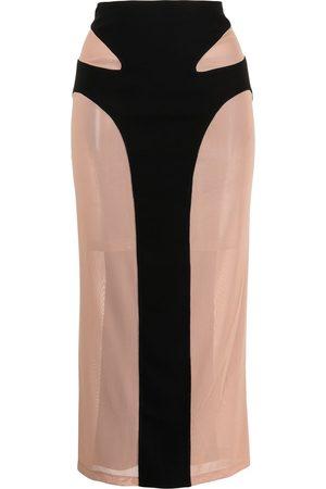DION LEE Mesh contour skirt