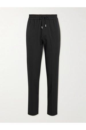 Mr P. Straight-Leg Piped Virgin-Wool Drawstring Trousers
