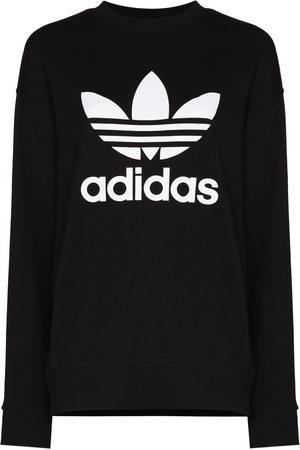 adidas Women Sports Sweatshirts - Logo-print cotton sweatshirt
