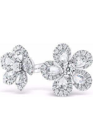 David Morris Women Rings - 18kt white gold Miss Daisy diamond double ring
