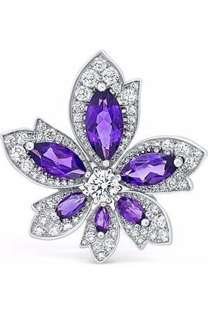David Morris Women Rings - 18kt white gold Palm amethyst and diamond ring
