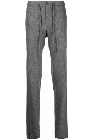 Malo Straight-leg drawstring wool trousers