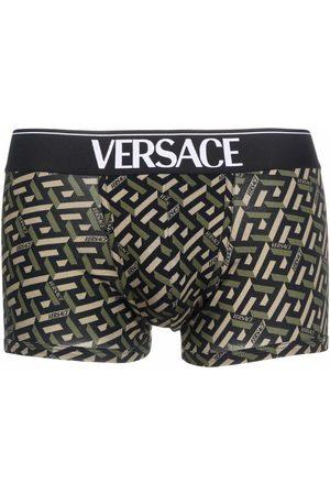 VERSACE La Greca print boxers