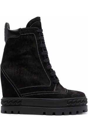 Casadei Lace-up suede boots