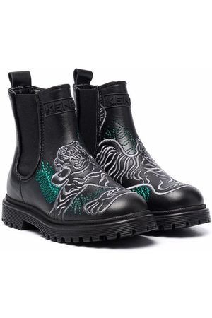 Kenzo Embroidered ankle boots