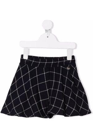 MONNALISA Check-print flared skirt