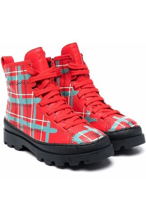 Camper Brutus plaid ankle boots