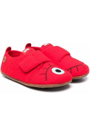 Camper Embroidered Eye touch-strap slippers