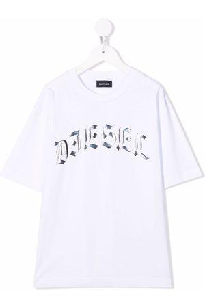 Diesel Metallic-logo crewneck T-shirt