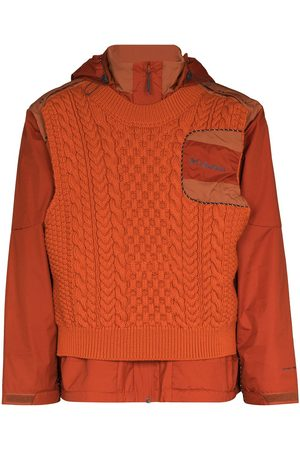 robyn lynch X Columbia knitted overlay hoodie