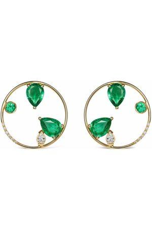 GFG Jewellery 18kt yellow Project 2020 emerald earrings