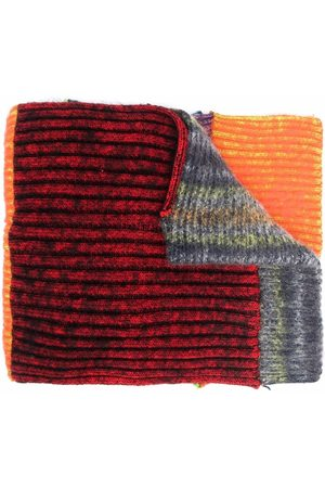 AGR Colour-block knitted scarf