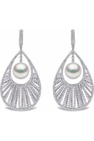 Yoko London 18kt white gold Mayfair South Sea Pearl and diamond earrings