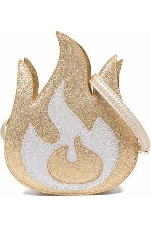 Molo Flame-shape glitter shoulder bag