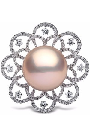 Yoko London 18kt white gold Radiant Orchid Freshwater Pearl and diamond ring