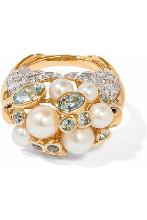 ANNOUSHKA X Temperley London 18kt yellow Disco Ball Lovebirds pearl diamond ring