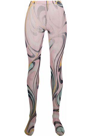 Emilio Pucci Semi-sheer graphic-print tights