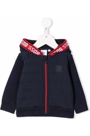 HUGO BOSS Logo-trim hooded jacket