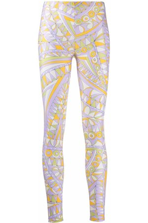 Emilio Pucci Graphic-print high-waisted performance leggings
