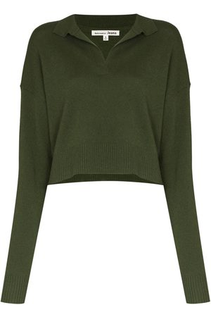 Reformation REF CASHMERE POLO SWEATER OLIVE
