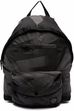 Stone Island Logo-patch backpack