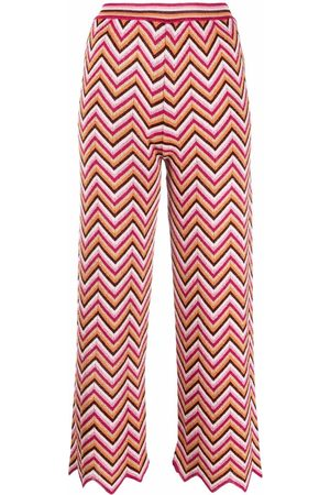 M Missoni Zig-zag knitted trousers