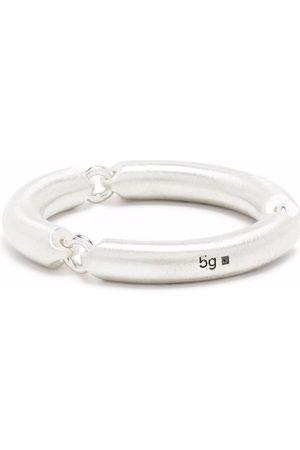 Le Gramme 5g brushed sterling 3 link ring