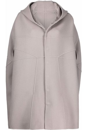 Rick Owens Hooded cashmere cape