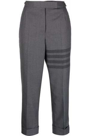 Thom Browne 4-bar high-rise cropped trousers