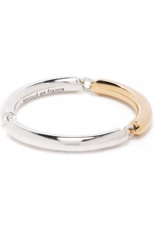 Le Gramme 3g polished sterling and 18kt yellow gold 3 link ring
