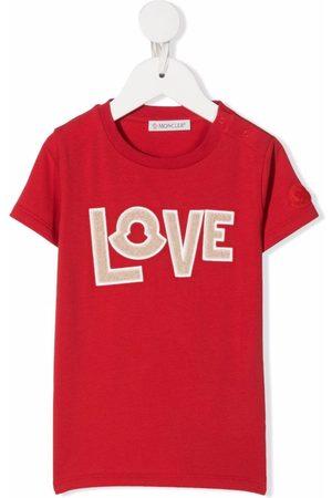 Moncler Love slogan print T-shirt