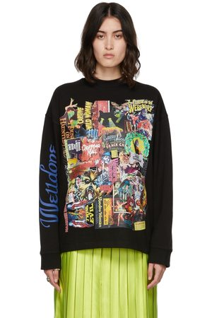 We11 Done Women Long Sleeve - Horror Collage T-Shirt