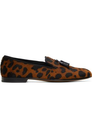 Tom Ford Calf Hair Pony Leopard Loafers