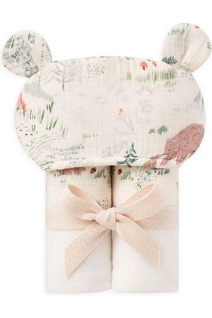 Elegant Baby Baby' Bear Print Bath Wrap Towel