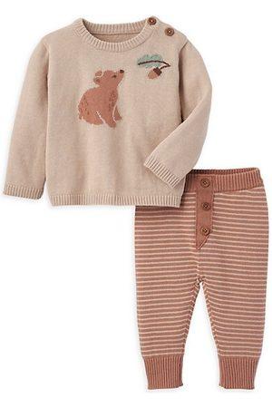 Elegant Baby Baby Boy's 2-Piece Bear Sweater & Knit Joggers Set