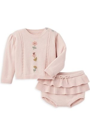 Elegant Baby Baby Girl's 2-Piece Sweater & Bloomers Set