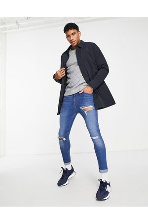 French Connection Men Parkas - Lined mac jacket in navy