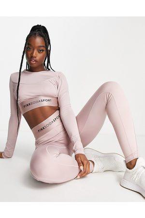 Pink Soda Sport contour sculpting leggings in